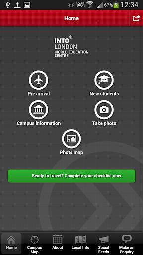 INTO London student app