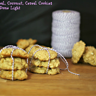 Oatmeal, Coconut Cereal Cookies.