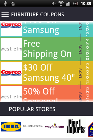 Furniture Coupons Android Apps On Google Play