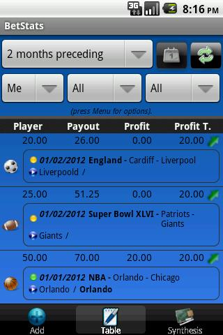 BetStats - Sports Bet Tracker - screenshot