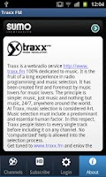 Screenshot of Traxx FM