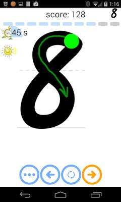 Trace pre-cursive - screenshot