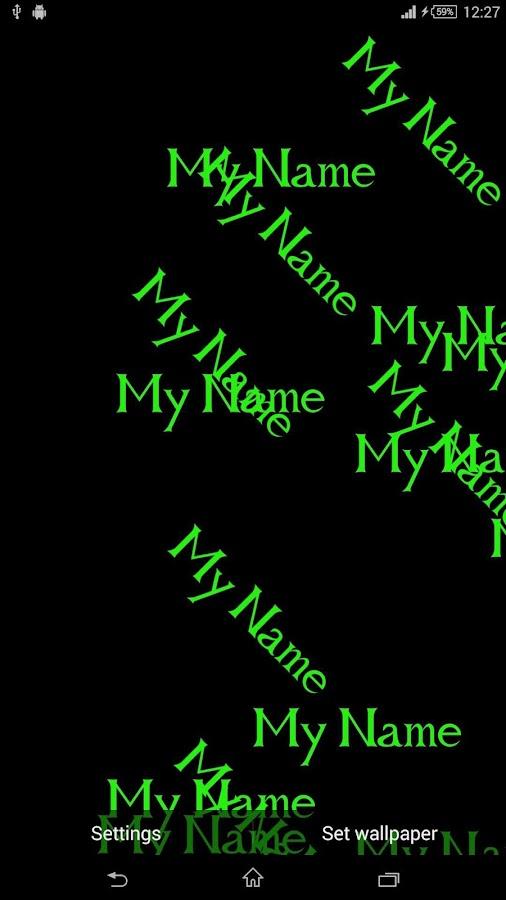 MyName Live Wallpaper 3D Android Screenshot 1