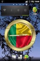 Screenshot of Benin flag clocks