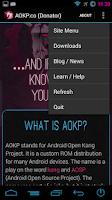 Screenshot of AOKP.co (Donate Version)