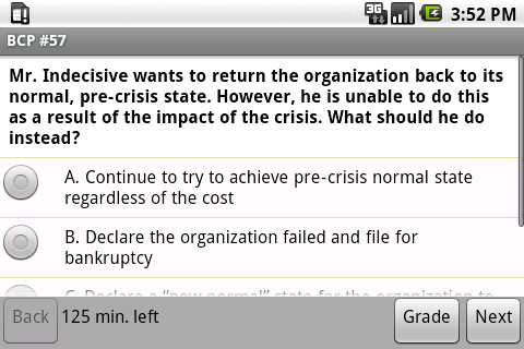 Business Continuity Exam Prep- screenshot