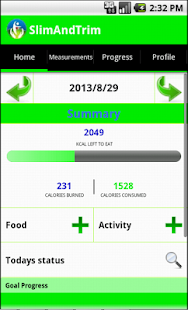 Calorie Counter - Slim & Trim - screenshot thumbnail