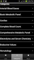 Screenshot of Pharmacy Lab Values
