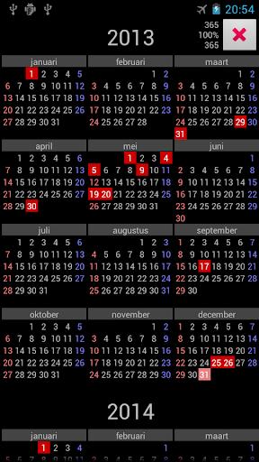 NL Holidays Annual Calendar