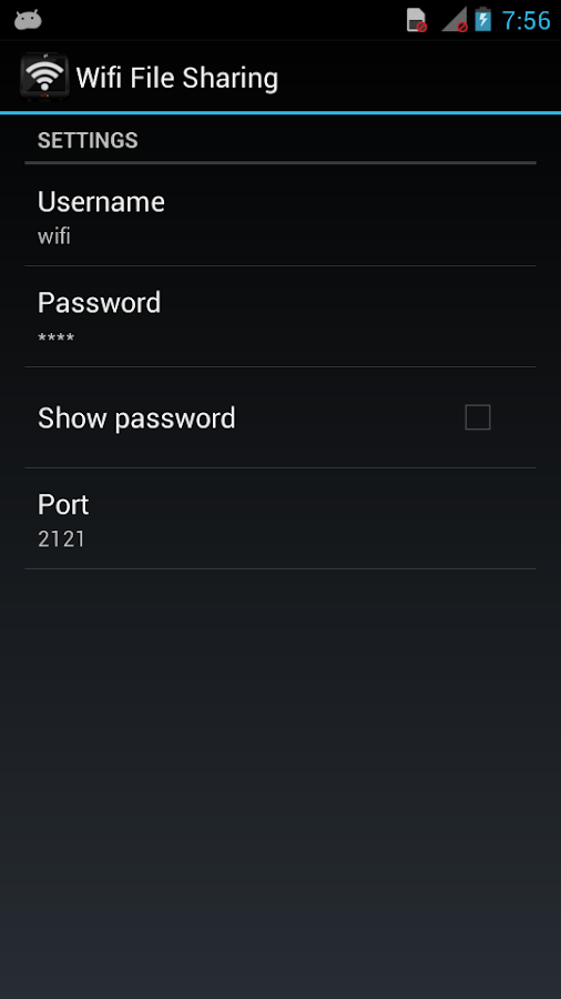 Wifi File Sharing - screenshot