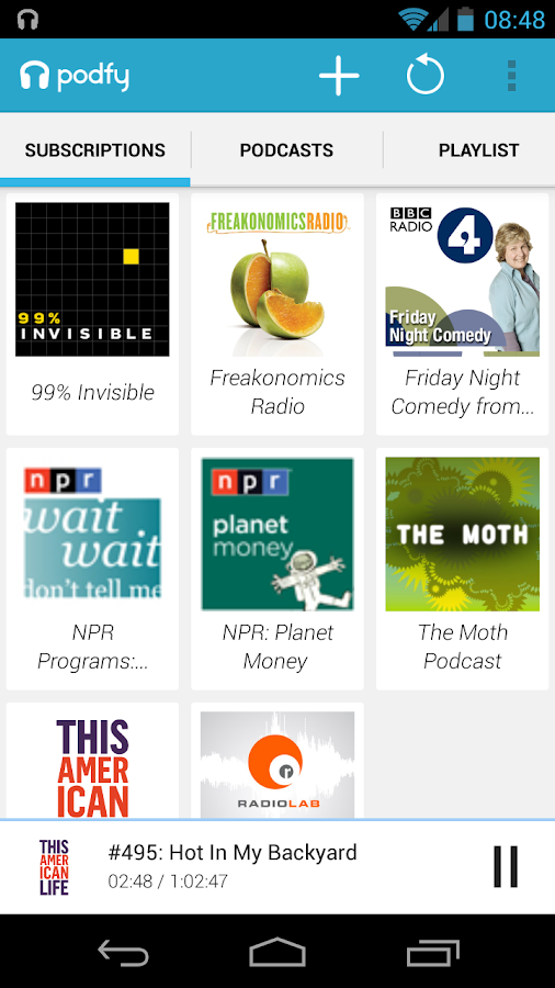 PODFY - Podcast Player - screenshot