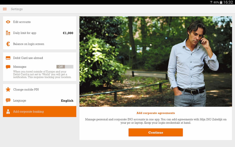 ING Bankieren - screenshot