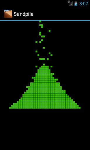 Sandpile 2D cellular automata