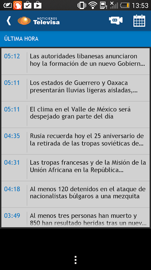 Noticieros Televisa - screenshot