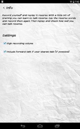 Reverse Talk 1.7 screenshot 641005