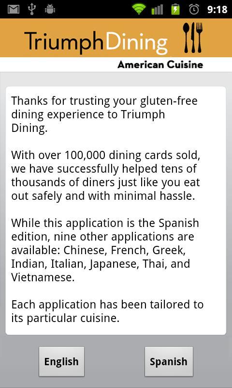 Gluten Free American- screenshot