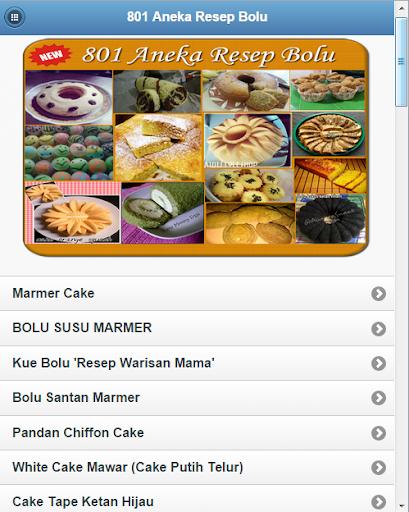 801 Resep Kue Bolu Spesial