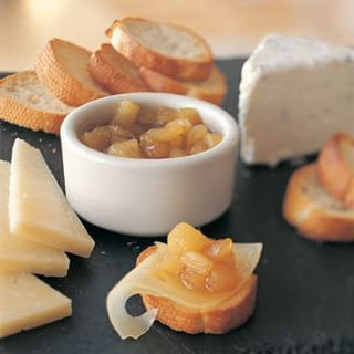 Pear Compote with Cheeses.