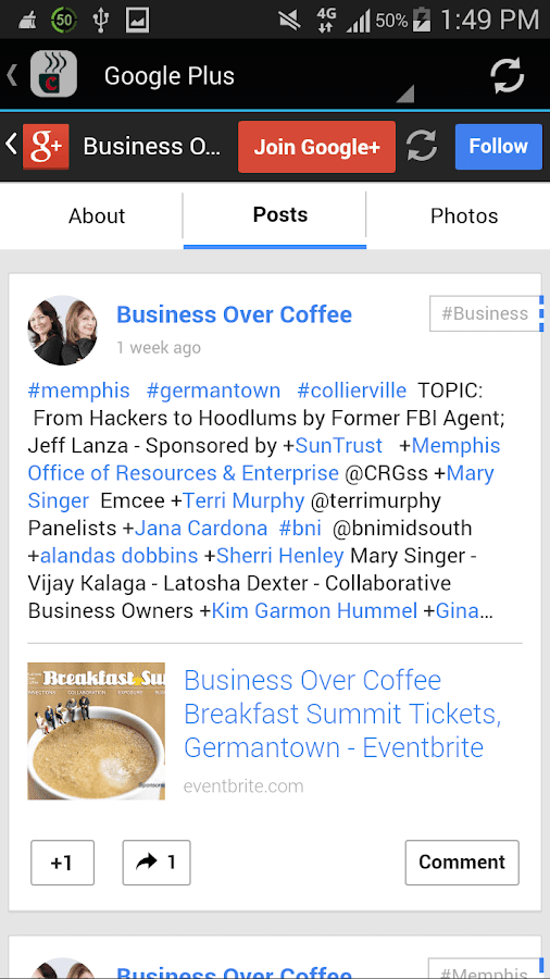 Business Over Coffee- screenshot