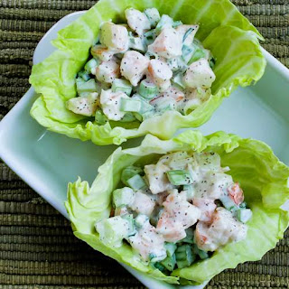 Shrimp Salad Cabbage Cups.