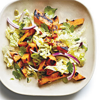 Grilled Sweet Potato and Napa Cabbage Salad with Lime Vinaigrette.