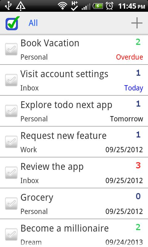 ToDo Next Task & To Do List - screenshot