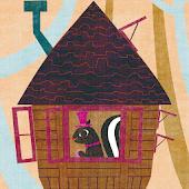 森のツリーハウス ライブ壁紙