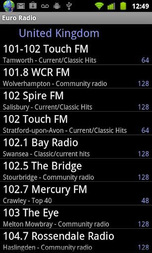 Euro Radio screenshot 2