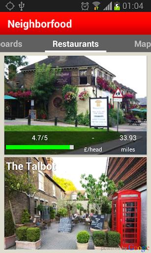 NBF Find restaurants in London