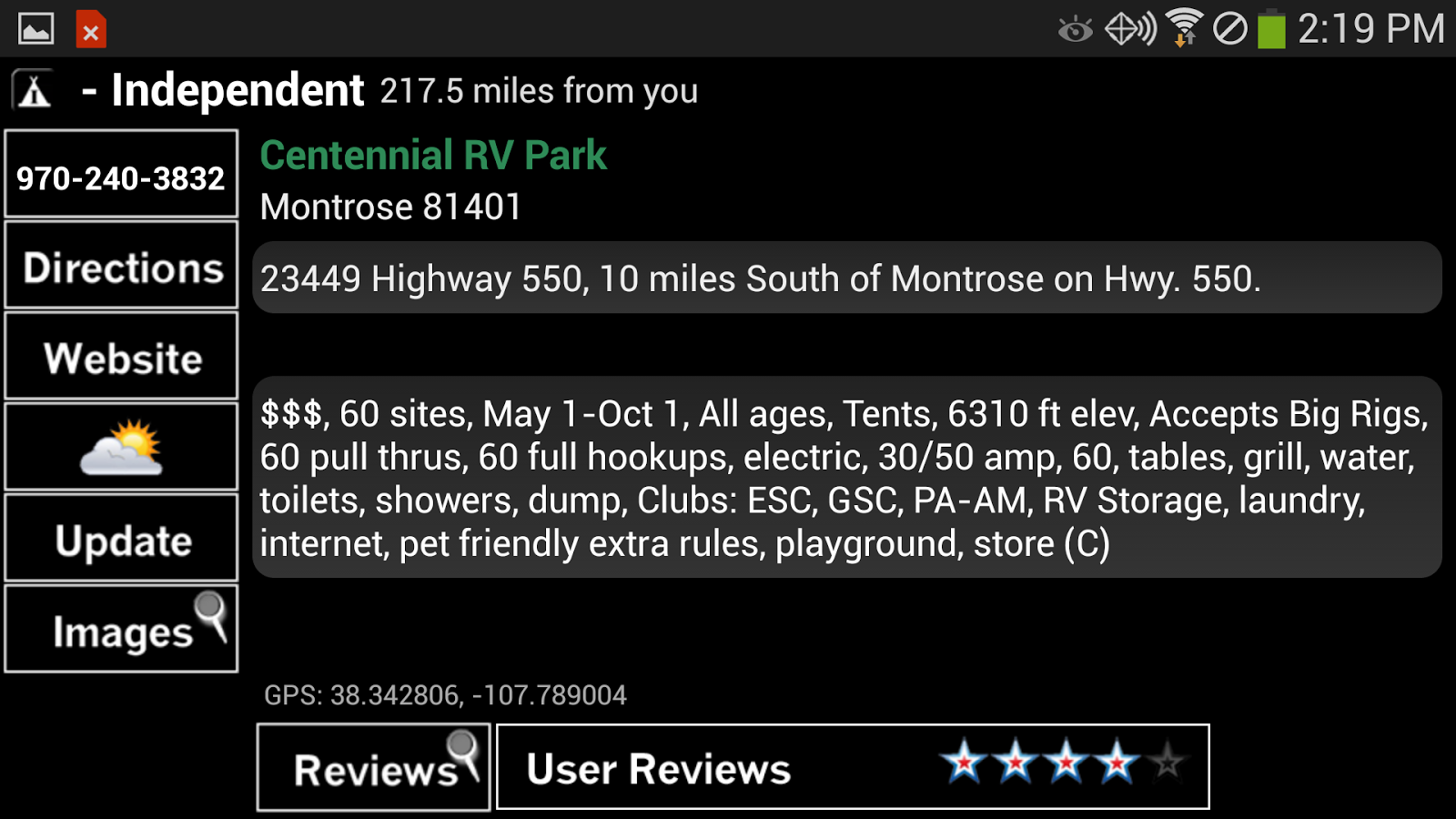 Camp and RV - Campgrounds Plus - screenshot