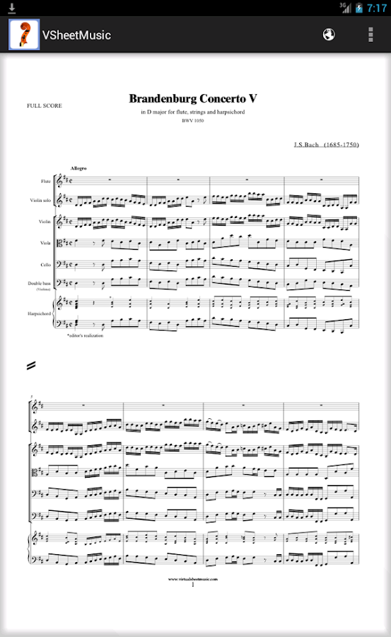 Virtual Sheet Music - screenshot