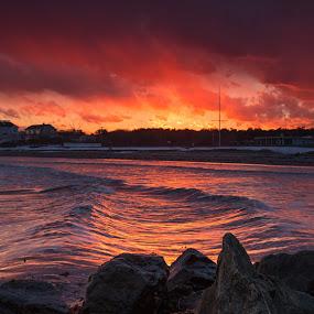 favorite color by Michael Otero - Landscapes Sunsets & Sunrises ( water, perfect sunset, sigma, waves, ocean, vibrant, color, colors, landscape, portrait, object, filter forge )