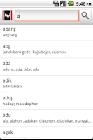 Screenshot of Kamus Batak-Indonesia