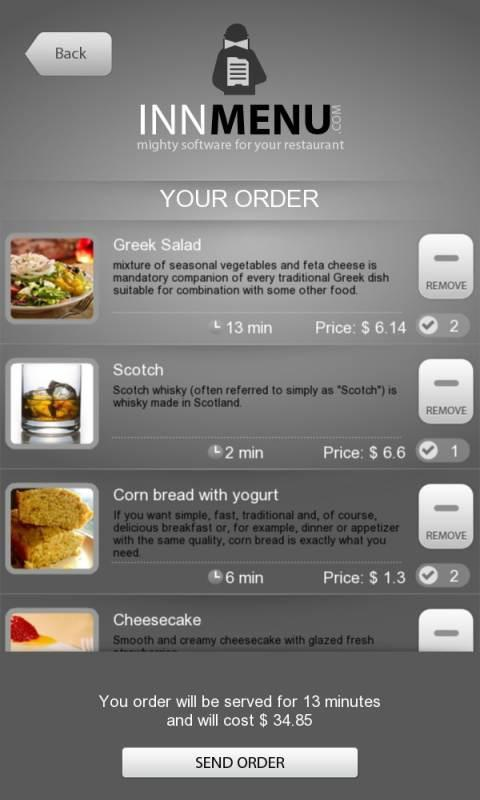 Innmenu free - restaurant menu - screenshot