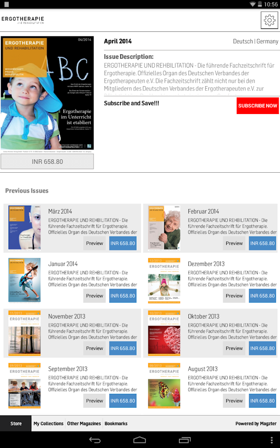 Ergotherapie and Rehabilition - screenshot