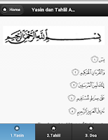 Screenshot of Kitab Tahlil Arwah Yasin