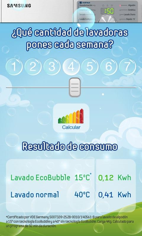 Samsung EcoBubble - screenshot