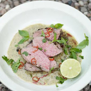 Barbecued Leg of Lamb with Thai Green Spices Recipe