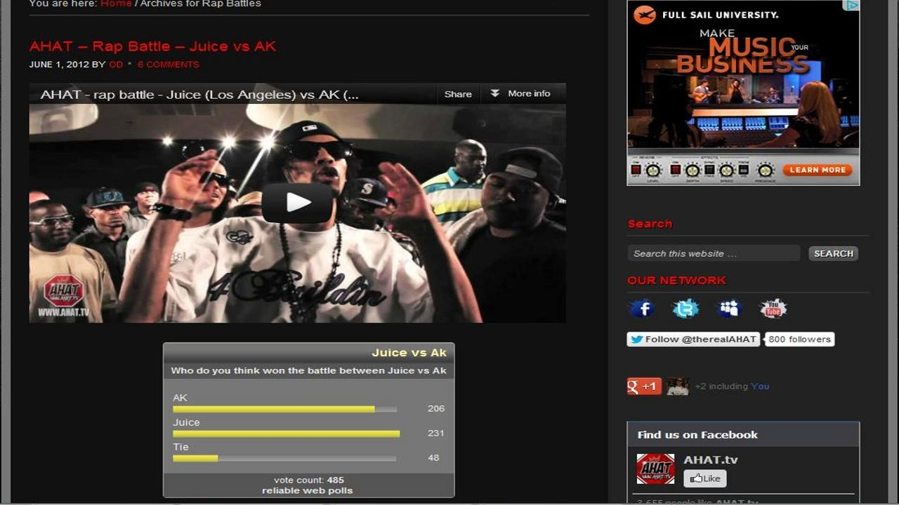 AHAT Rap Battles - screenshot