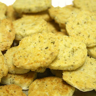 Herbed Goat Cheese Shortbread Crackers.