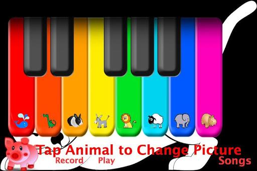 Piano -Animal Wallpaper
