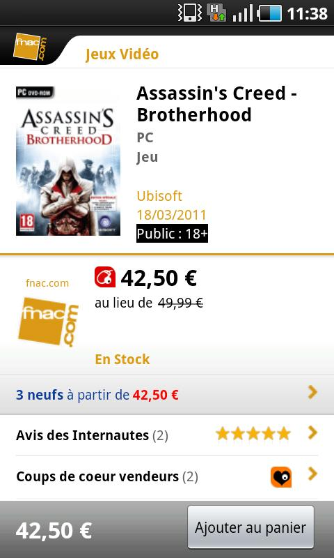 Fnac.com - screenshot