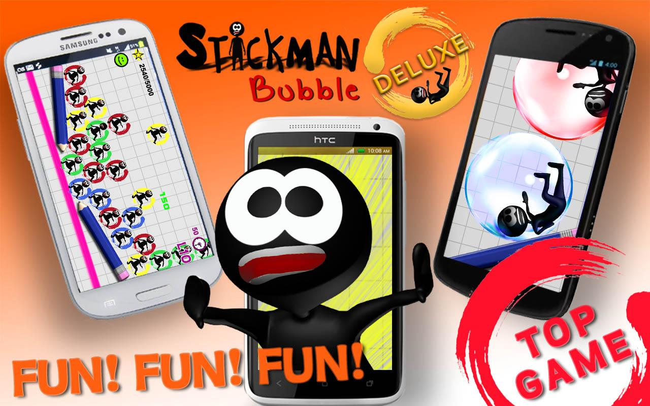 Stickman Bubble Deluxe - screenshot