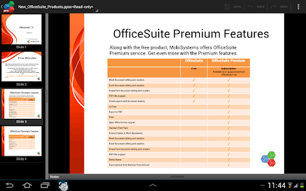 OfficeSuite 7 Pro (PDF&Fonts) Screenshot 4