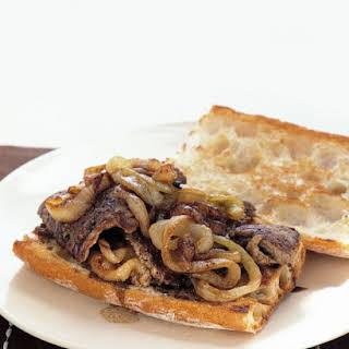 Steak and Onion Sandwiches.