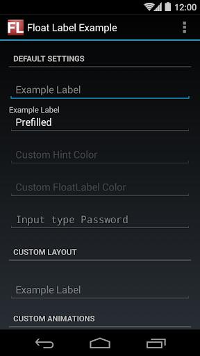 免費程式庫與試用程式App|Float Label Example|阿達玩APP