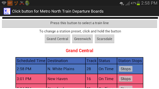 Metro North Departures- screenshot thumbnail