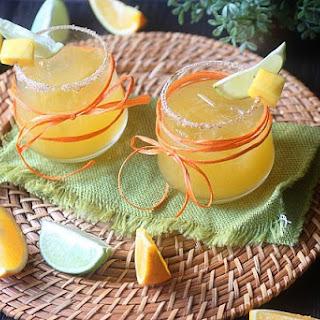 Mango Vulcan Cocktail.