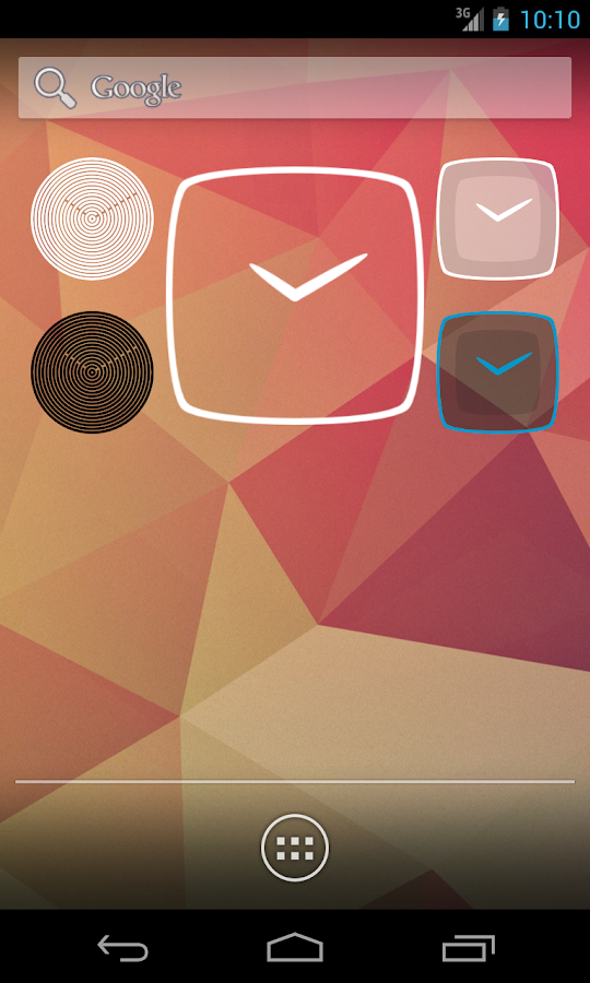 Minimal Clock - screenshot