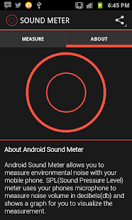 Sound Meter for Android - screenshot thumbnail